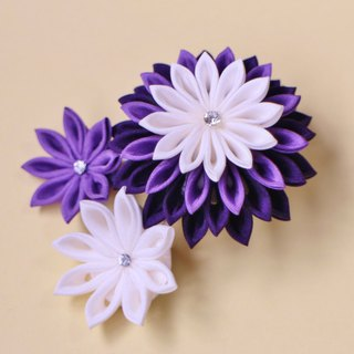 Silk Hujiajiga hair ornament brooch Order production knob kimashi Japanese yukata kimono kimono party