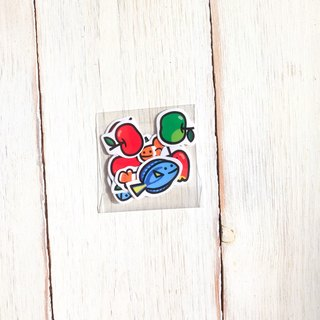 Small fish apple sticker set