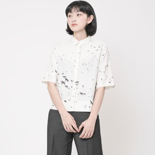Chest Flock Shirt Passu Beauty Landscape Printed Shirt