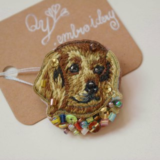 Qy's dogs Dachshund hand embroidery brooch pin gift