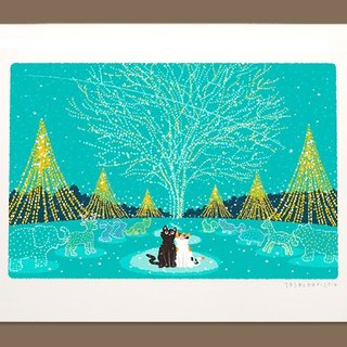 Taberneck Illustration Print (A3 size) | 20. Christmas Illumination | Art Posters