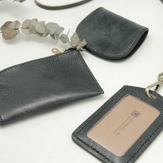 Texture business combination of leather goods (including identification card sets, L-type credit card zero purse, horseshoe-style zero purse)