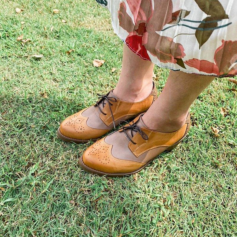 可可里諾 牛津小踝鞋 中根牛津鞋 拚色
