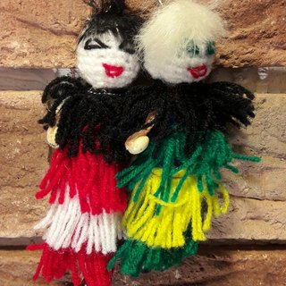 Ukuku couple 2 - red and green