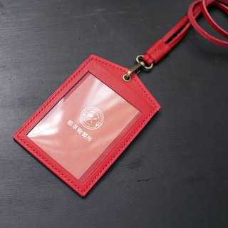 [Christmas limited offer] [increase window] straight identification card - chili red