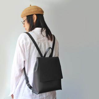Tanela grey & Burgundy  color leather back pack