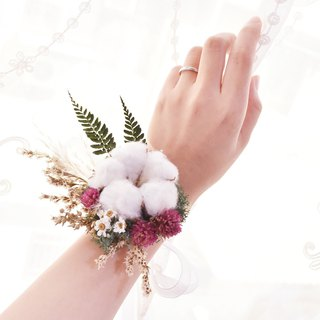 WANYI 6 Group Diy Classic Dry Flower Wrist Flower Corsage / Eternal Flower / Marriage / Bridesmaid / Wedding