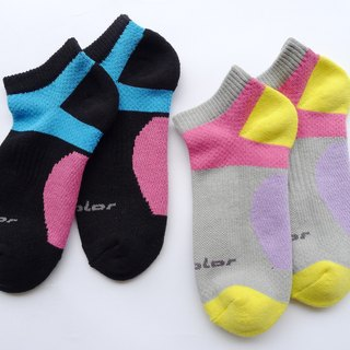 Cotton function professional air jogging socks (female) cool gray (colored optional)