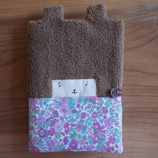 Doo Bunny Mom Handbook / Baby Handbook Cover - Purple May Flower - Two Colors