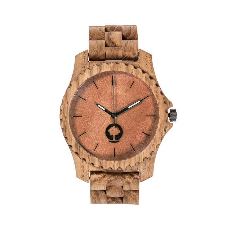 Plantwear – URBAN SERIES – OAK WOOD TIMBER WRIST WATCH