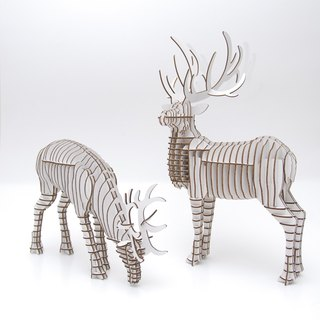 Doe 3D Handmade DIY Home Decoration White Antlers