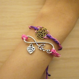 """Rose Trail"" composite wire braided bracelet"