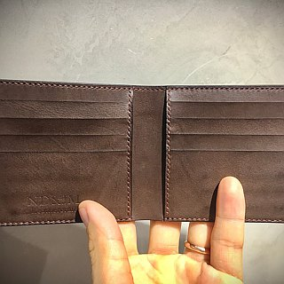 Handmade 8 card short wallet, full Italian quality leather color can be customiz