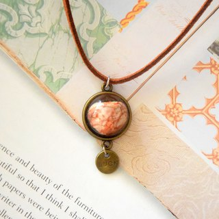 Reddish Natural Stone Handmade Necklace