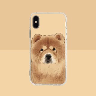 Big face Chow Chow Embossed Air Shell - iPhone/Samsung, HTC.OPPO.ASUS Pet Phone Case