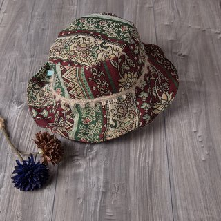 bold_ethnic style fisherman hat.floral