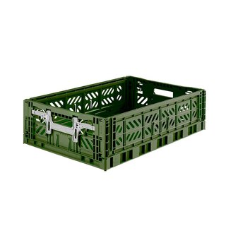 Turkey Aykasa Folding Storage Basket (L15) - Army Green