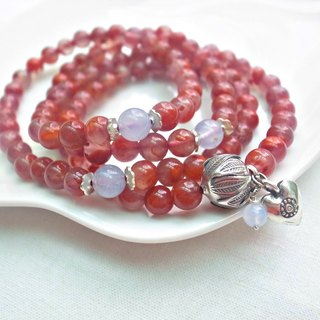 ORLI Jewelry ♡♡ ice kinds of red agate 108 South rosary X multi-ring bracelet natural stone ♡ ♡♡ ♡♡ Agate natural crystal