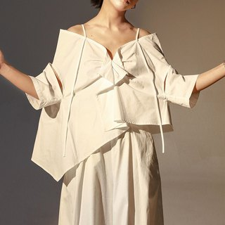 Open Shoulder Oversized Flare Top