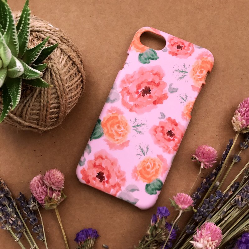 Pink Carnations. Matte Case( iPhone, HTC, Samsung, Sony, LG, OPPO)