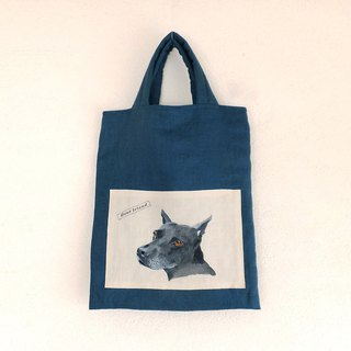 Hand-Painted Dog linen bag Taiwan Dog