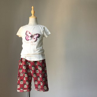 Kids pants- burgundy Buddha