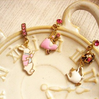 [Jolie baby] Alice Fantasy Series - earrings rabbit tea party group