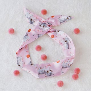 This hand made original handmade gouache cat rabbit ear hair band