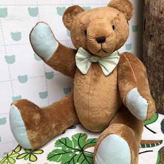 Handmade teddy bear caramel velvet 50cm spot only one left