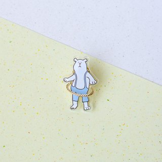 Hula Hoop Brooch /Polar bear