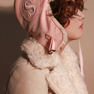 MR.STORE Peach skin light pink aviator hat