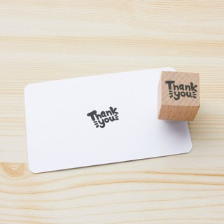 Hand engraved rubber stamp thank you thank you stamp seal stationery