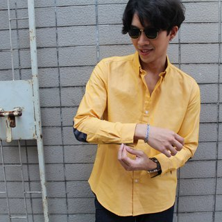 shirt is yellow color oxford fabric.