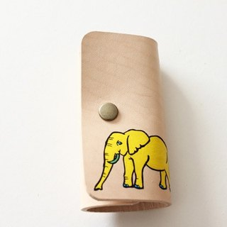 Key Case / Natural Yellow Elephant