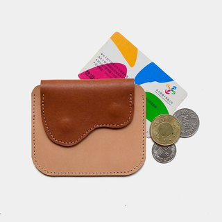 [God's chest pocket] vegetable tanned leather purse primary color X brown leather card holder leisure card
