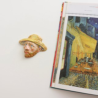 Ceramic Vangogh No. 1 Brooch / Magnet