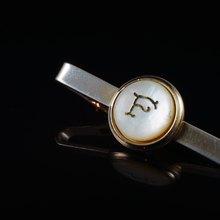 a0739e65d3cb [C'est Cufflinks] American F letter vintage short tie clip