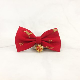 Christmas Classic - Red Cat Mini Dog Small Dog Bow Decoration Collar
