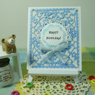 Handmade cards - warm blue birthday card (Universal Card / greeting card)