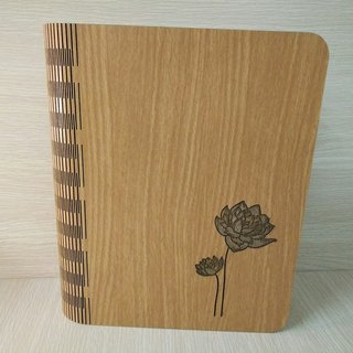 Taiwan Pavilion 【Customization - color and pattern can be replaced】 Wood: Patent (A5) - Body-made notebook - Lotus notebook / album / stationery / folder / gift / gifts