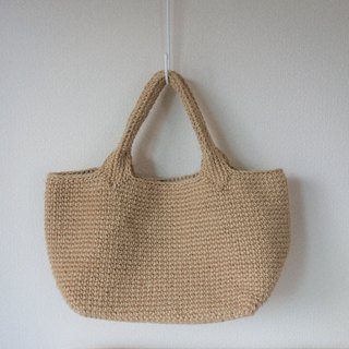 Simple bag made of jute,shoulder bag,handknit