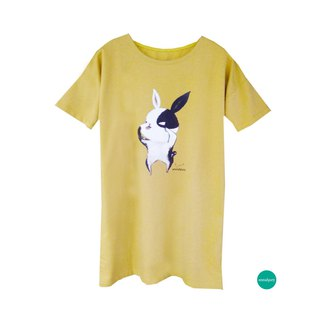 emmaAparty illustration T: Ghost face rabbit (winter long version limited edition two colors)