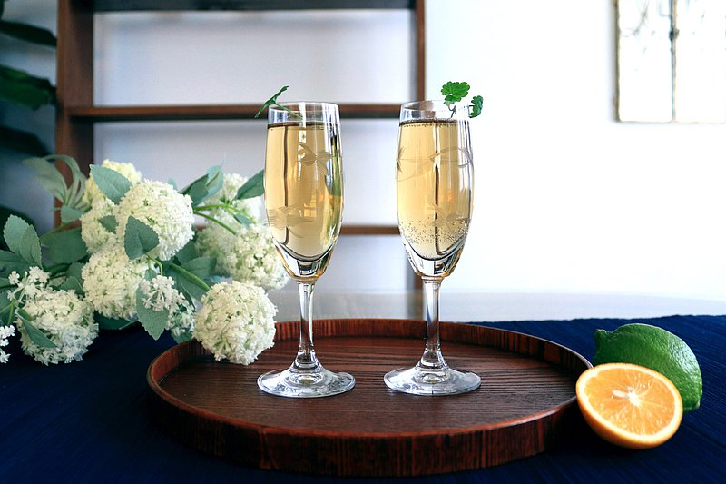 棲仙SECLUSION OF SAGE/欣欣玻璃行系列-手工刻葉汽泡香檳杯
