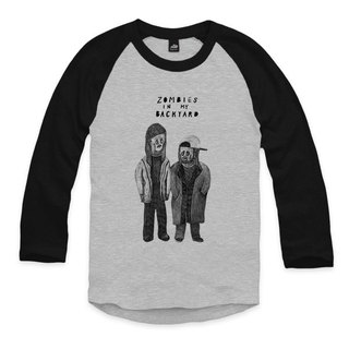 Jay and Silent Bob - Gray / Black - Seven Sleeve Baseball T-Shirt