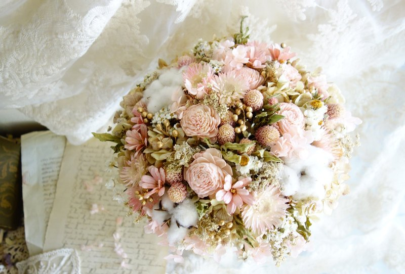 Wedding floral series ~ soft beauty pink gold bouquet