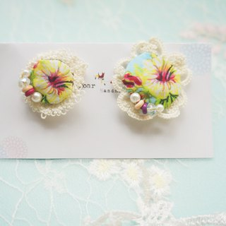 Handmade Earrings, Embroidery Earrings, Tatting, Cotton