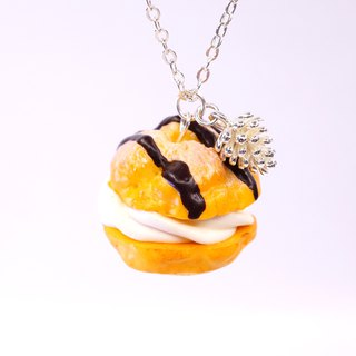 *Playful Design* Puff with Chocolate Sauce Necklace