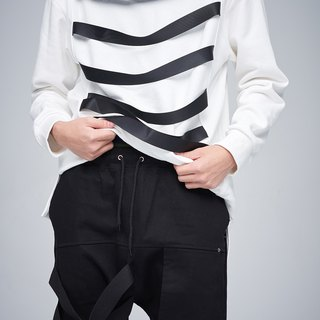 Line drop diagonal pants 9101