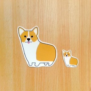 Corgi waterproof stickers (large)