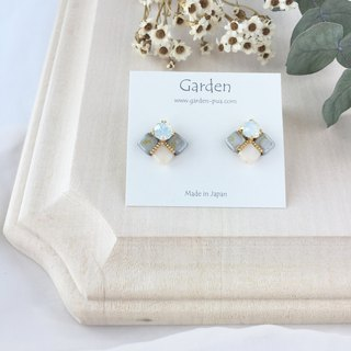 tile earrings khaki